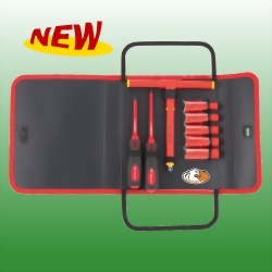 "9PCS 1000V Insulated  3/8""Dr.T-Handle & Screwdriver Set"
