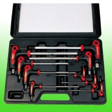 9PCS T HANDLE BALL POINT & HEX KEY WRENCH SET