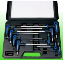 9PCS T HANDLE TAMPER STAR & STAR KEY WRENCH SET