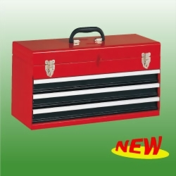 3-Drawer Portable Tool Chest Smooth Action Slides
