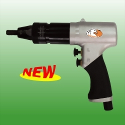 Air Nut Riveter(Pistol Type) w/Two Size Riveting Head