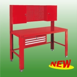 Workbench w/ Backpanel; 3-Drawer Chest Ball Bearing Slides & 2-Wall Cabinet