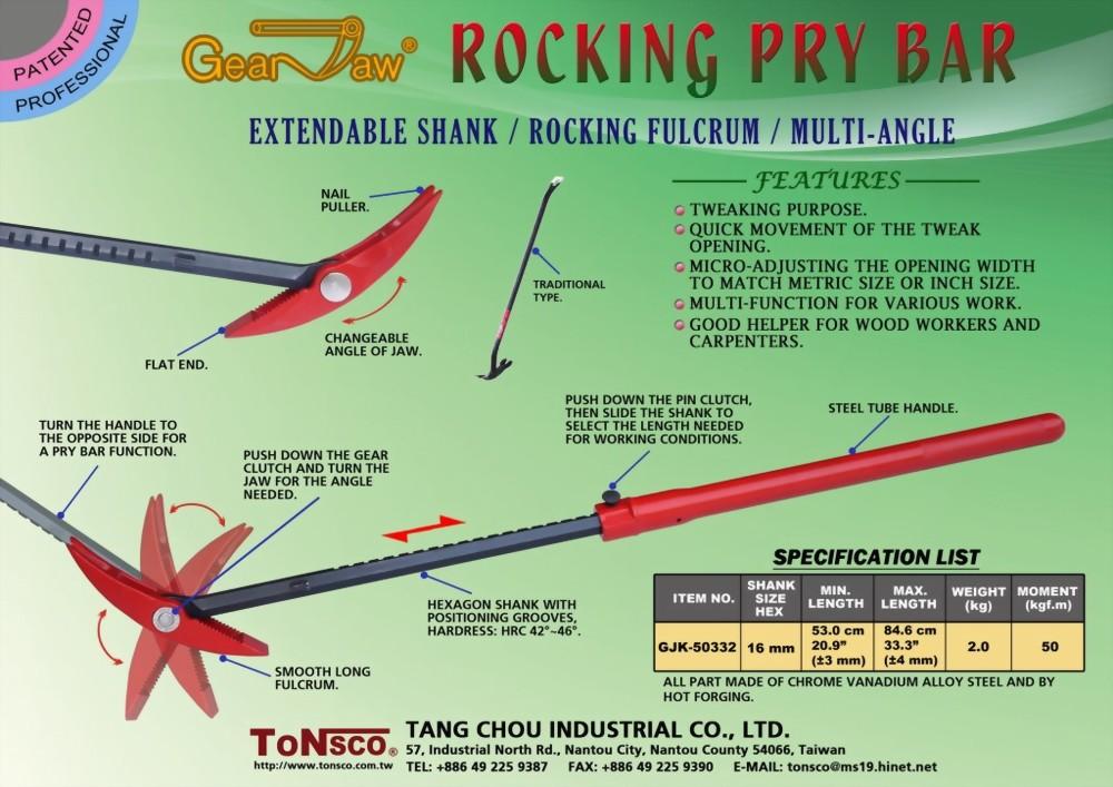 GearJaw Extendable Rocking Pry Bar