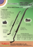Extendable Free Long Wrecking Bar with Wrecking End