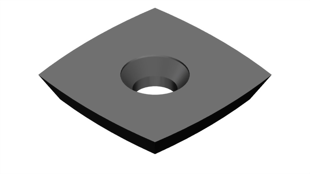 Square round carbide indexable woodworking turning insert-Sr2
