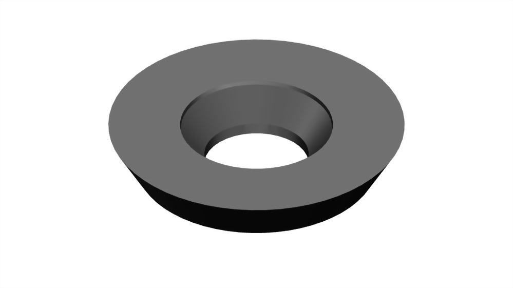 Round carbide indexable woodworking turning insert