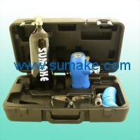 Portable compressed CO2 regulator with 20oz bottle  & PU re-coil hose & glasses kit