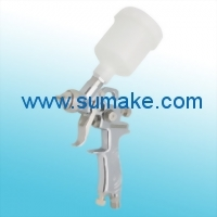 HIGH PRESSURE GRAVITY TYPE AIR SPRAY GUN (φ1.0mm) WITH 125CC PLASTIC CUP