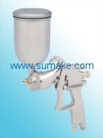 HVLP GRAVITY TYPE AIR SPRAY GUN(φ1.4mm) WITH 400CC STAINLESS CUP