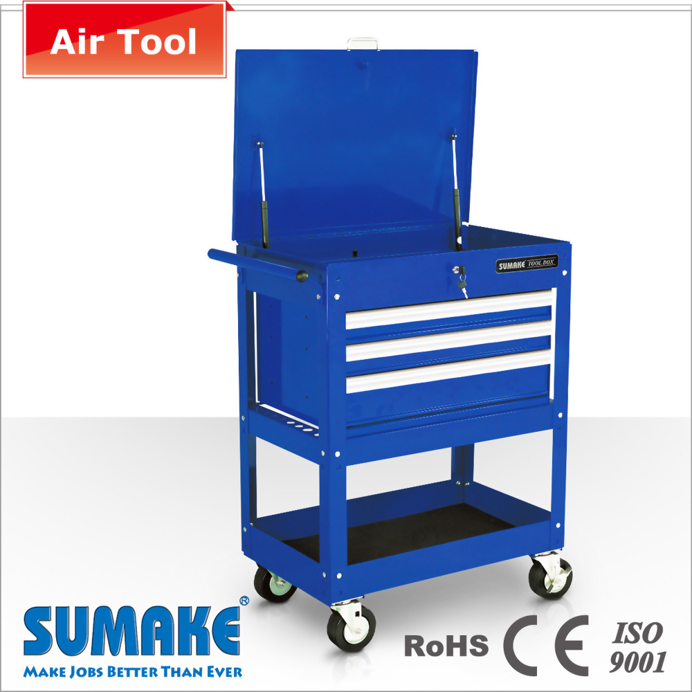 3-DRAWER SERVICE CART; BALL BEARING SLIDES
