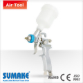 HVLP GRAVITY TYPE AIR SPRAY GUN(φ1.0mm) WITH 125CC PLASTIC CUP