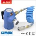 Portable compressed  CO2 regi;atpr with PU recoil hose & quick coupler