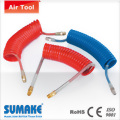 Articulated Vehicle Brake Recoil Tubing