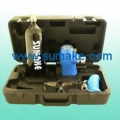 Portable compressed CO2 regulator with 20oz bottle  & PU re-coil hose & glasses kit