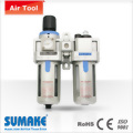 "3/8"" AIR FILTER; REGULATOR & LUBRICATOR(SEMI-AUTO DRAINER)"