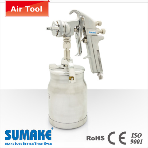 SUCTION TYPE AIR SPRAY GUN (φ1.8mm) WITH 1000CC ALUM. CUP