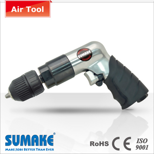 "3/8"" HEAVY DUTY REVERSIBLE AIR DRILL W/KEYLESS CHUCK"