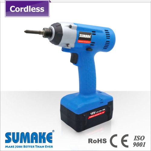 18V Brushless impact cordless screwdrivere with 2.0Ah Li-ion battery set