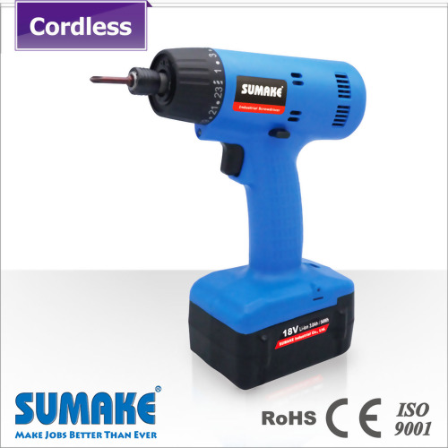 Brushless semi-auto cordless screwdriver with 2.0Ah Li-ion battery set