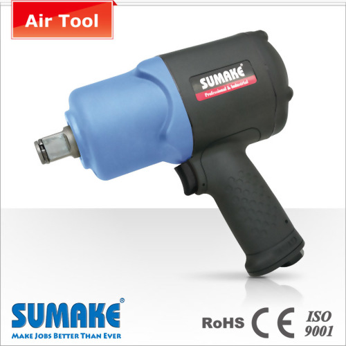 "3/4"" Lightweight & Short Size Composite Twin Hammer Air Impact Wrench"