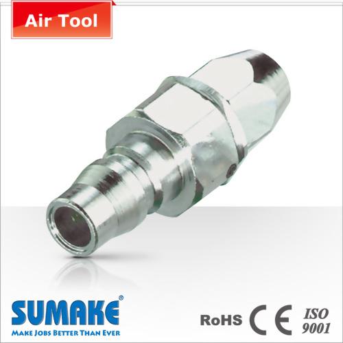 Plug-8.5x12.5mm PU Tube, Swivel, Nitto Type, Steel
