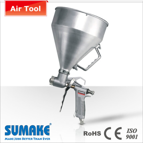 AIR TEXTURE HOPPER SPRAY GUN (ALUMINUM CAP)