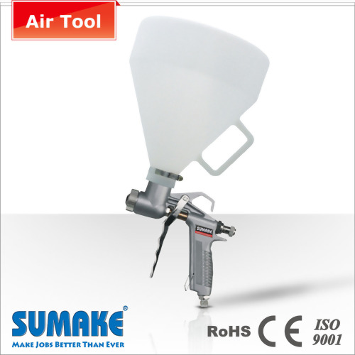 AIR TEXTURE HOPPER SPRAY GUN (PLASTIC AIR CAP)