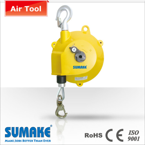 Air tool spring driven retractable spring balancer