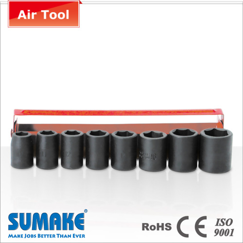 "8PCS 3/8"" AIR SOCKET SET (CR-VA STEEL)"