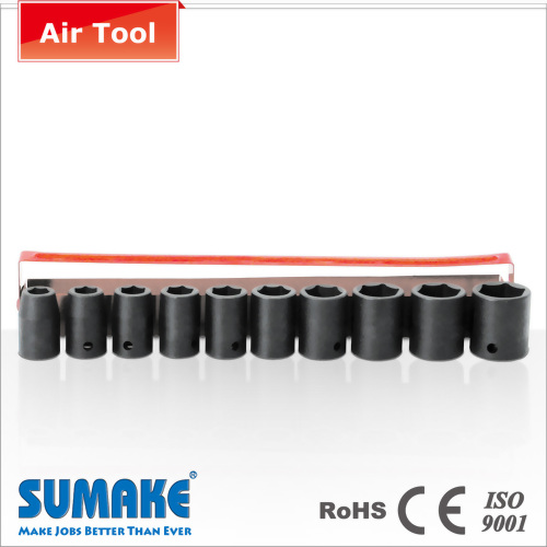 "10PCS 1/2"" AIR SOCKET SET (CR-VA STEEL)"
