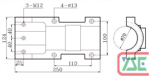φ70 Standard Copper Plate