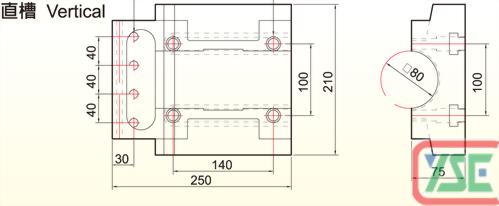 φ80 T-Slotted Copper Plate