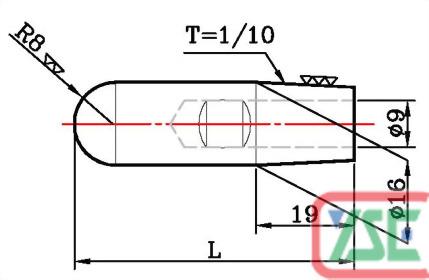Ø16電極銅頭