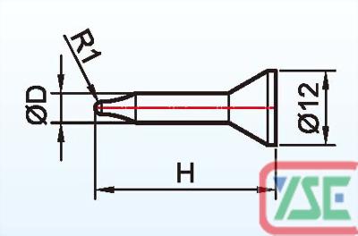 M4 Siliguide Pin / Ceramic Pin