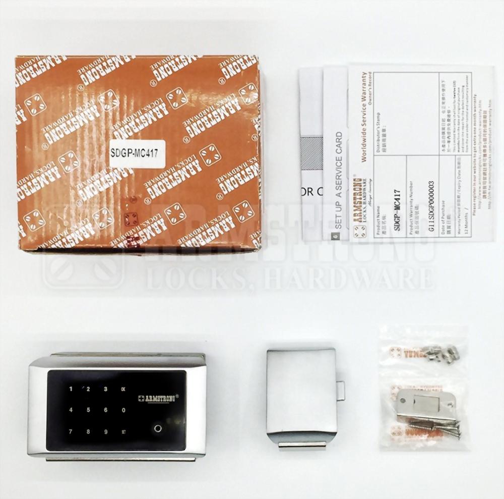 Cerradura Digital Inteligente Para Vidrio Doble Gabinete Puerta SDGP-417