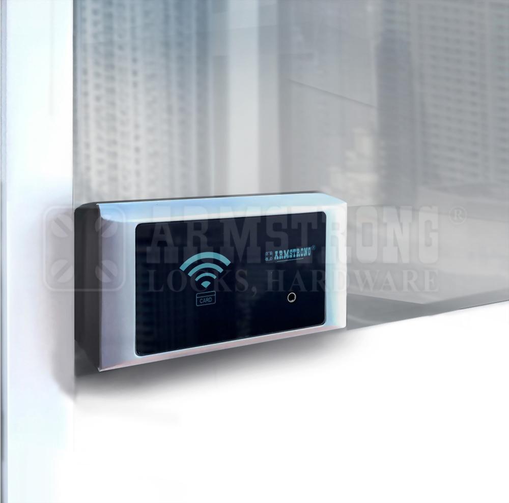 卡片感應式玻璃櫃電子鎖(單門用)-外接電源盒 SDGC-407