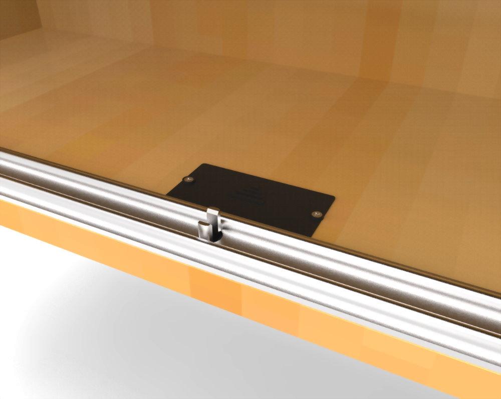 目に見えないガラスキャビネットロックSDGS-002