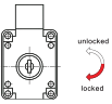 Two turns and long latch (18mm) lock system for office furniture 508 Series