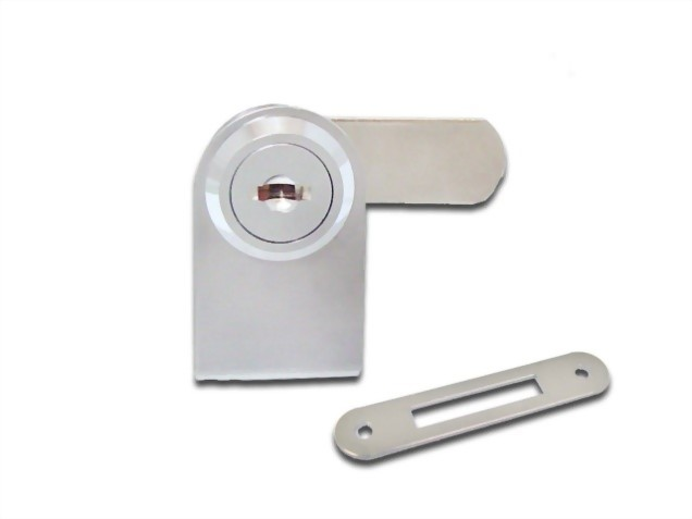 Cabinet Single Swinging Glass Door Lock 410-1