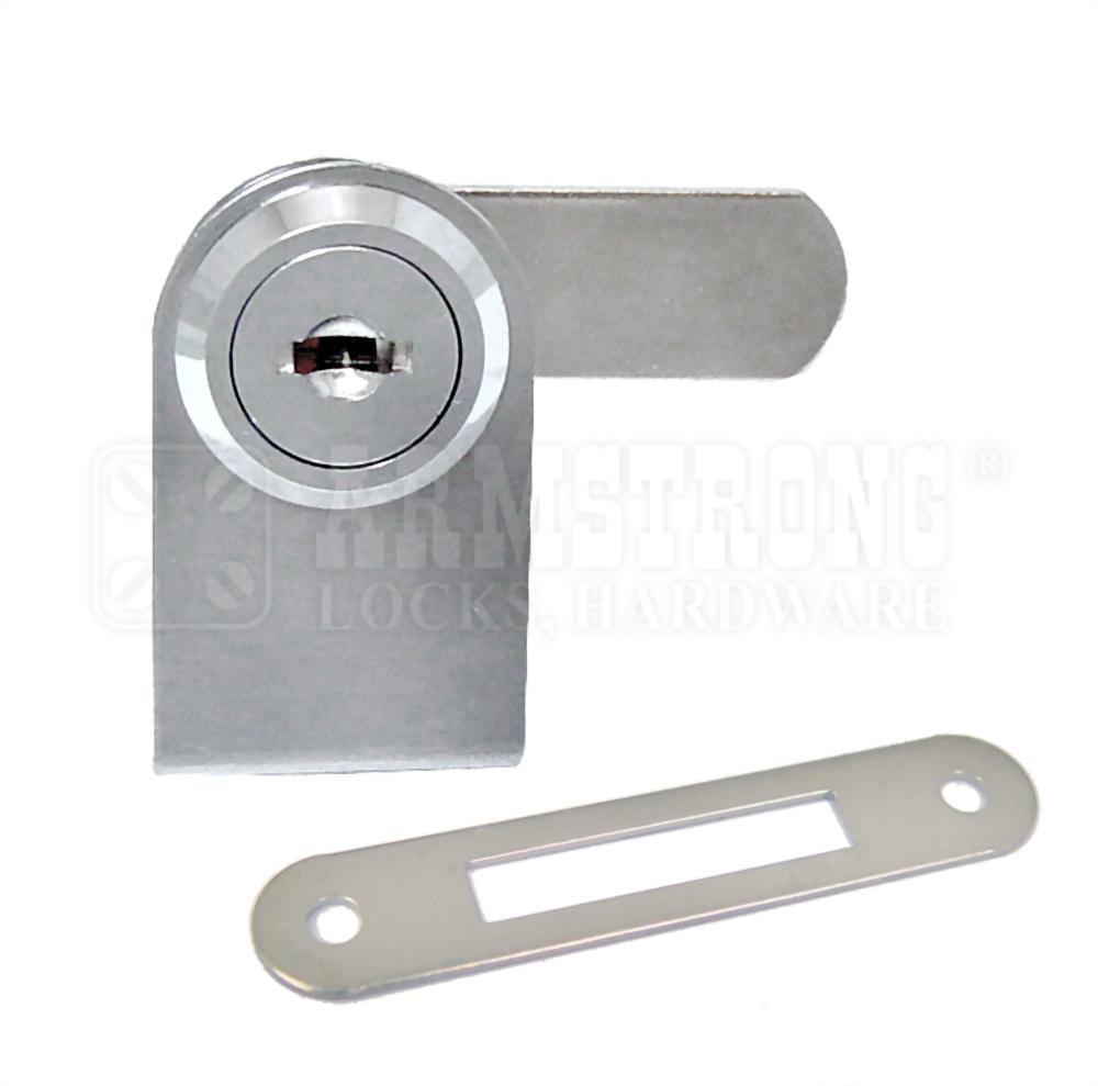 Cabinet Single Swinging Glass Door Lock 410-1