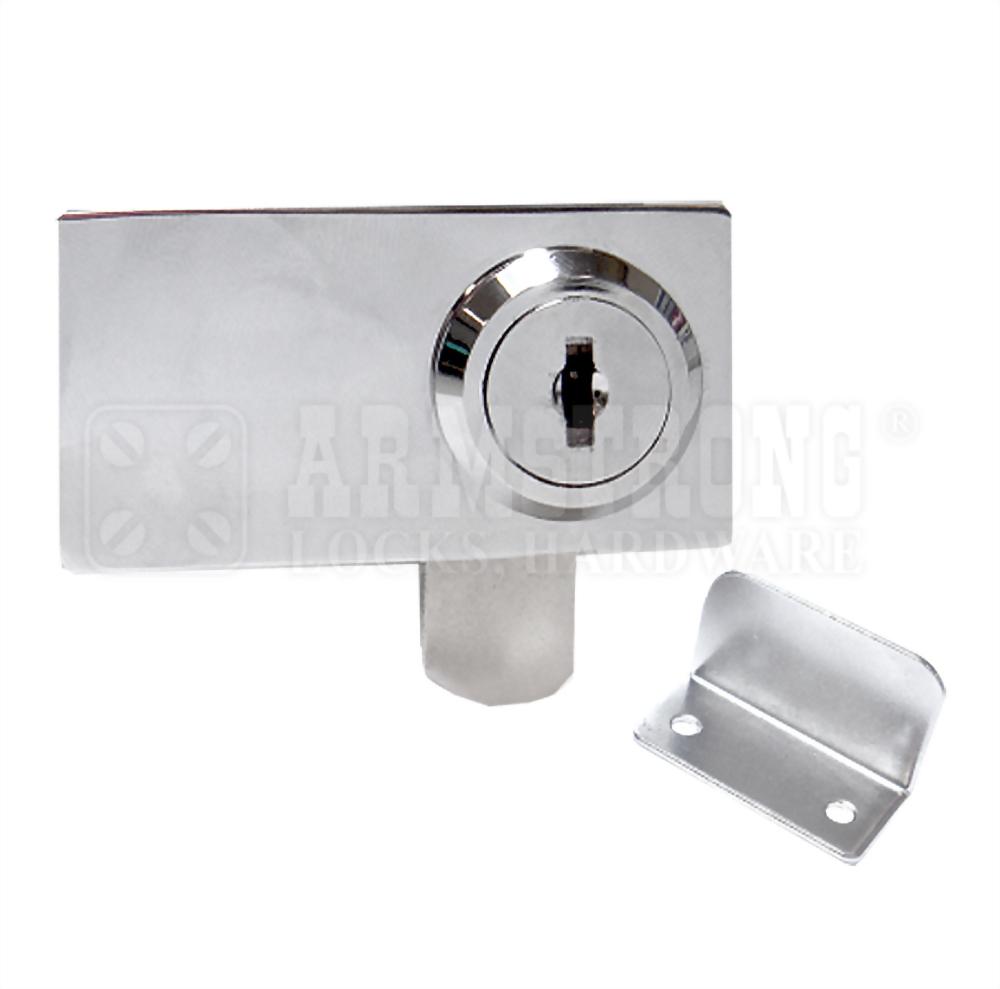 Cabinet Double Swinging Glass Door Lock 410-3