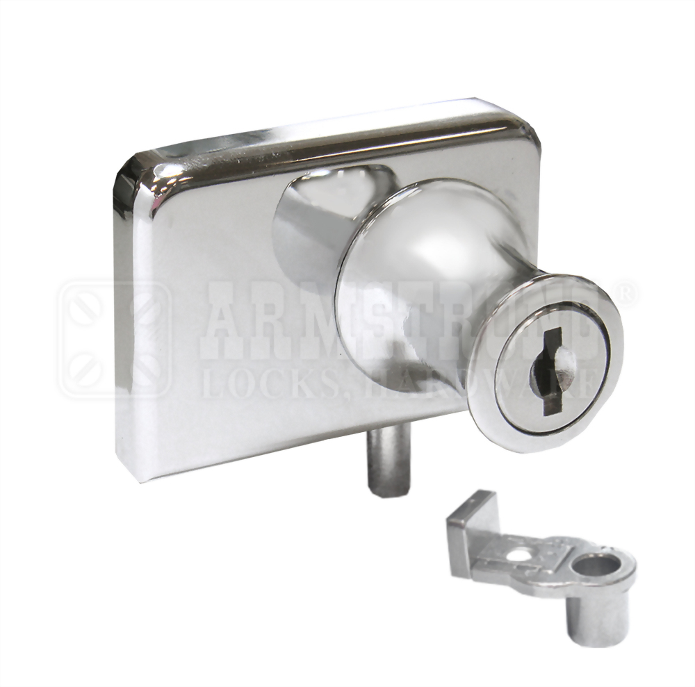 Cabinet Double Swinging Glass Door Lock 417-2