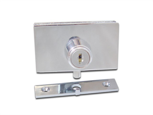Cabinet Swinging Glass Door Plunger Lock 410-6