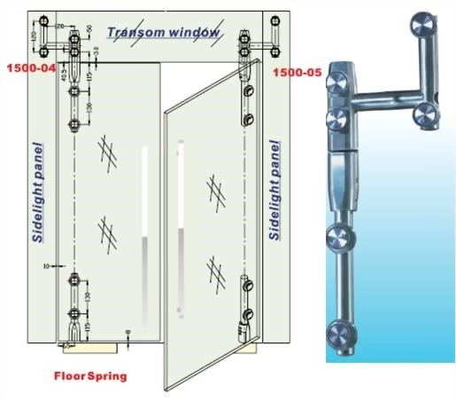 Transom And Sidelight Panel To Glass Door Pivot Bar Set u2013For Right Door Glass To Glass 1500SUS-05-Sunken Screw Series  sc 1 st  Armstrong Locks : door transom panel - pezcame.com