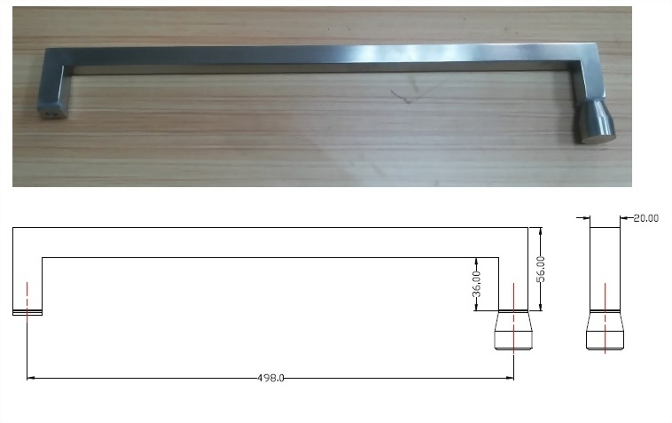 Glass Handle 1420s04-01-1