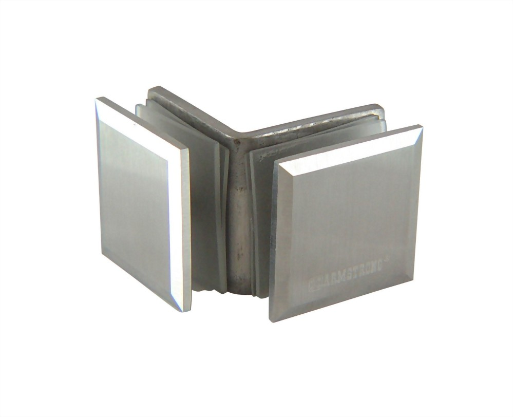 90 degree Stainless Slope edge Glass Clamp-Glass to Glass 1200SUS-01