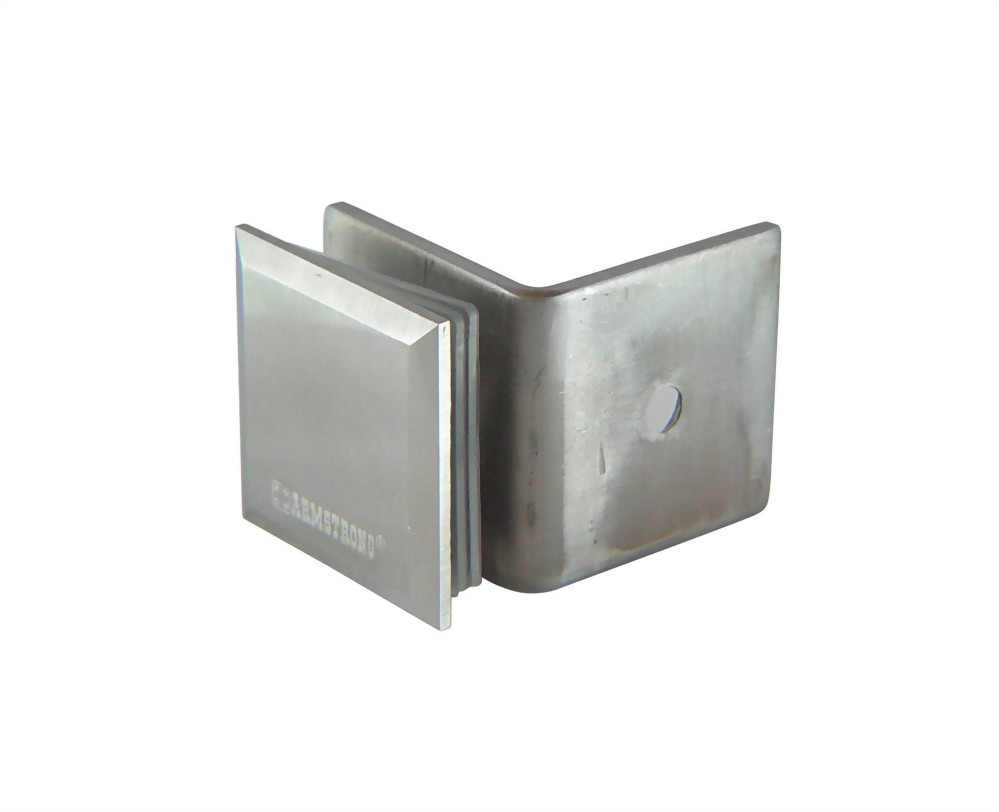 90 degree Stainless Slope edge Glass Clamp-Glass to Wall 1200SUS-02