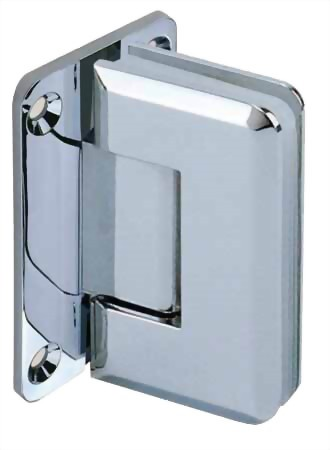90 degree Rectangular edge Stainless Glass Door Hinge - Glass to Wall 1100SUS-01