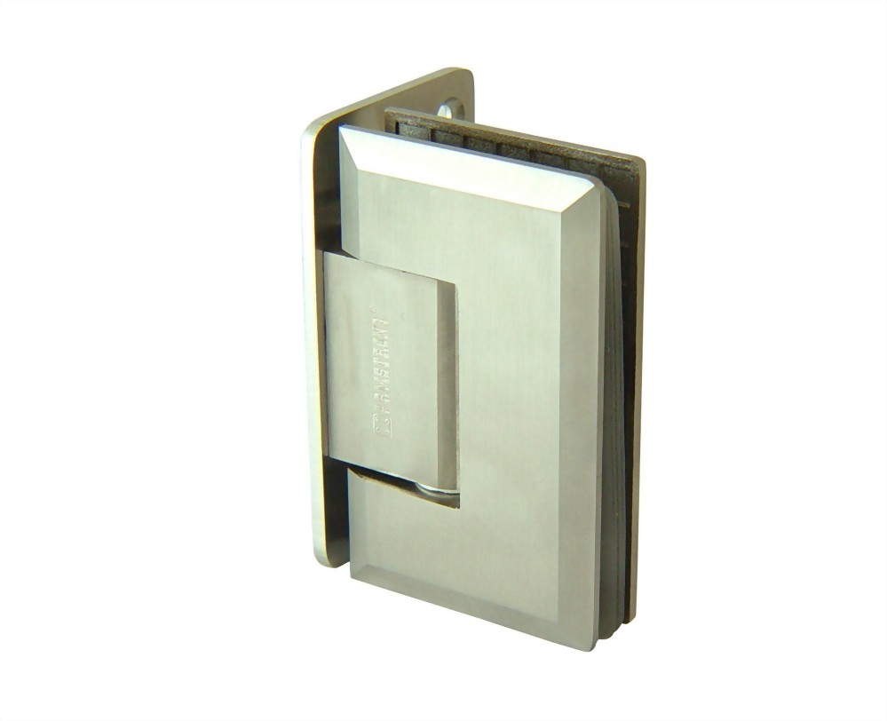 90 degree Rectangular edge Stainless Glass Door Hinge - Glass to Wall 1100SUS-01A