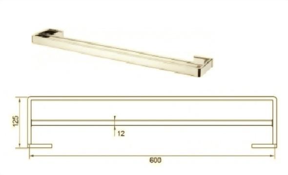 Towel Rail 2200-02l2-600